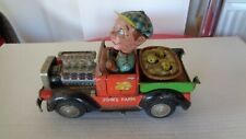 Rare voiture jouet vintage John's FARM tin toy car of 40's made in Japan