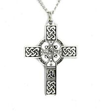 Silver Celtic Cross Necklace Gothic Punk Metal Emo Alternative Nordic Warrior