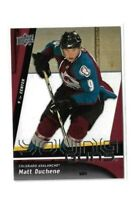 2009-10 UPPER DECK #203 MATT DUCHENE YG RC UD YOUNG GUNS ROOKIE