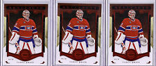 2015-16 ARTIFACTS - CAREY PRICE 3 CARD LOT RUBY #/399