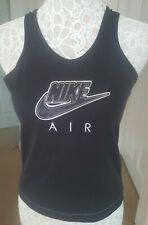 Nike Air Ladies Black Vest Top Organic Cotton Size S