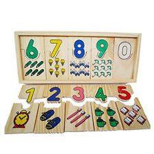 Wooden Pull Out Puzzles Jigsaws Preschool Kids Childrens Educational Toys DP