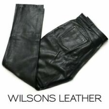 Wilsons Leather Jeans Pants Men's Size 36 38 waist black gay int? EUC chaps