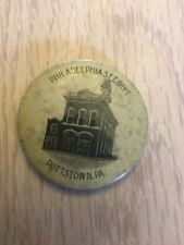 Very Rare Pottstown Pennsylvania Pin Made In Reading PA  1930's Antique