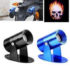 3D Universal Ghost Rider Flaming Skull Logo Motorcycle Projector LED Light 9-14V