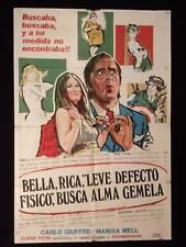 BELLA, RICCA, LIEVE DIFETTO FISICO CERCA ANIMA GEMELLA * 1sh MOVE POSTER 1973