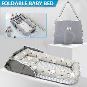 Portable Folding Baby Nest Bed Pillow Newborn Bassinet Lounger  Sleeping Cot