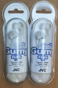 JVC HA-FX5-W WHITE GUMY PLUS  HEADPHONES, SET OF 2 HEADPHONES.