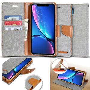 GOOSPERY® Shock Resistant Slim Flip Leather Wallet Case for iPhone 11 / XS MAX