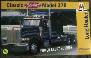 Italeri 3857 Classic Peterbilt Model 378 1/24 Scale Model Kit