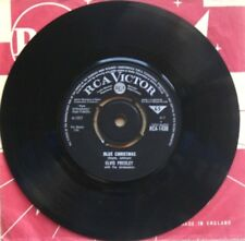 "Near Mint Elvis Presley  Blue Christmas / White Xmas nm RCA 1430 7"" VINYL 45"
