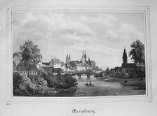 Merseburg Sachsen-Anhalt Saale  Lithographie aus Saxonia 1835-1841