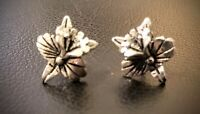 Exquisite & Beautiful Lillies Design Vintage Earrings ~ 925 Sterling Silver ~
