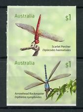 Australia 2017 MNH Dragonflies Scarlet Percher 2v S/A Dragonfly Insects Stamps