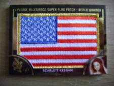 2018 Benchwarmer Hot For Teacher Scarlett Keegan Super Flag Patch Ser# 1/1