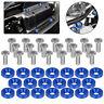 Blue 20pcs Billet Aluminum Fender/Bumper Washer/Bolt Engine Bay Dress Up Kit US