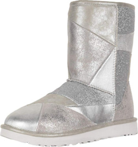 UGG Women's Classic Glitter Patchwork Fashion Boot US Size 8 BRAND NEW