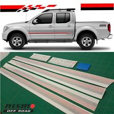 Nissan Navara Frontier Nismo Side Stripes decals stickers Graphics