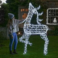 Plug in LED Outdoor Wicker Reindeer Snowman Lamppost Christmas Decoration