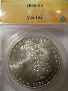 1885-O MORGAN SILVER DOLLAR ANACS MS66