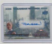 Marvel Black Panther Autograph Trading Card WW-YO Florence Kasumba as Ayo (B)