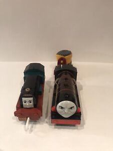 trackmaster thomas the tank engine battery  train hurricane And Frankie Rare