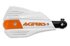 OEM GENUINE KTM ACERBIS X-FACTOR WHITE ORANGE HANDGUARDS UPP1502040