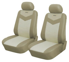 Synterior Brand Leather like 2 Car Seats Covers Sku:257FO Caramel Cream