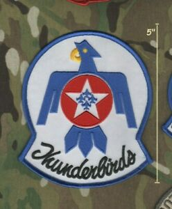 """F-16 FIGHTING FALCON THUNDERBIRDS DISPLAY TEAM PILOT SHOULDER iron-on 5"""" PATCH"""