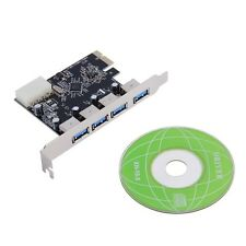 4 Port 5Gbps Superspeed USB 3.0 PCI-E PCI Express Card Adapter for XP Vista Win7