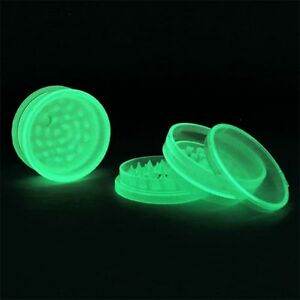Best Value Glow in the Dark Acrylic Grinder 2 Piece Stick & Non Stick Available