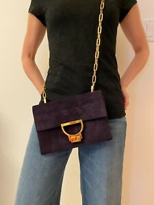 COCCINELLE Cross body Clutch bag Suede Leather Arlettis