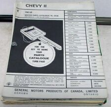 1962-1969 Gm Chevy Ii Canadian Dealer Master Parts Catalog Book No 691B Nova