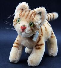 Original Steiff Cat Tapsy #1311.0 with Raised Silverscript Button.
