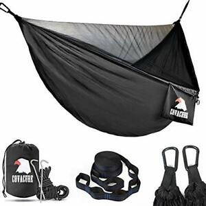 COVACURE Camping Hammock with Mosquito Net - Ultra-lightweight Outdoor Travel