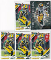 LOT (5) 2019 DONRUSS FOOTBALL DAVANTE ADAMS GREEN BAY PACKERS  - C1833