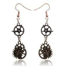 Earrings Gear Earring Alloy Bronze Fish Hook Steam Punk Accessories Jewelry