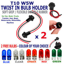 T10 501 LED SMD Car Light Bulb Socket Holder Connector + 2 Free standard Bulbs