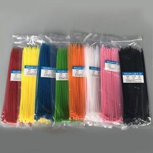 100PCS Attache-Câble Autobloquant en Nylon Serre-câble en Nylon Plastique