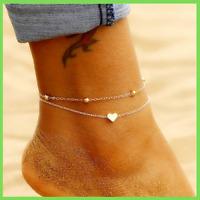 Fußkettchen Strand Fußkette Kettenrmband Fußschmuck Brautschmuck Geschenk R7N2