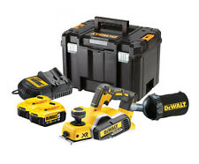 DeWalt DCP580 XR Planer 18v/ 2x 5ah batteries/ charger/ Dustbag/ TSTAK Case