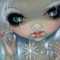 Fairy Face 215 Jasmine Becket-Griffith Art Ice Snowflake Faery SIGNED 6x6 PRINT