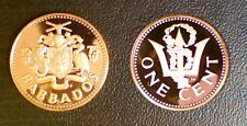 BARBADES 1 CENT 1975 PROOF