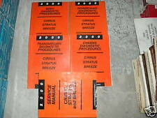 2000 Chrysler Cirrus Dodge Stratus Breeze Service Shop Repair Manual Set W DIAG