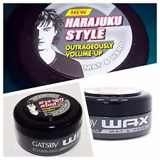 75g Grey Jar Gatsby Styling Hair Wax  Mat & Hard Japan | US Seller