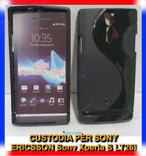 Pellicola+Custodia cover case WAVE NERA per Sony Xperia S LT26i