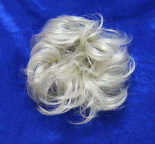 HAARGUMMI HAARTEIL WEIß GRAU Scrunchie klein Haarverdichtung Dutt Haarband L01