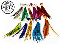 METZ Neck Hackle Wets & Palmers Grizzle Barred Av Size 12 - 6 Fly Tying Feathers