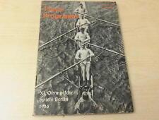 """Xi. Olympische Spiele Berlin """"Tages-Programm 13. August"""" 1936 71 Seiten WW II"""