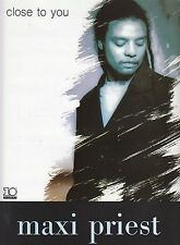 Close To You - Maxi Priest - 1990 Sheet Music